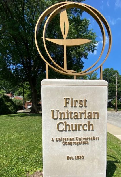 First Unitarian Chalice Sign